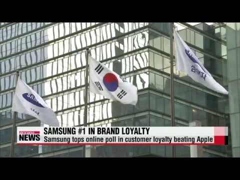 Samsung Electronics beats Apple in customer loyalty   ″삼성, 애플 꺾고 브랜드 충성도 1위