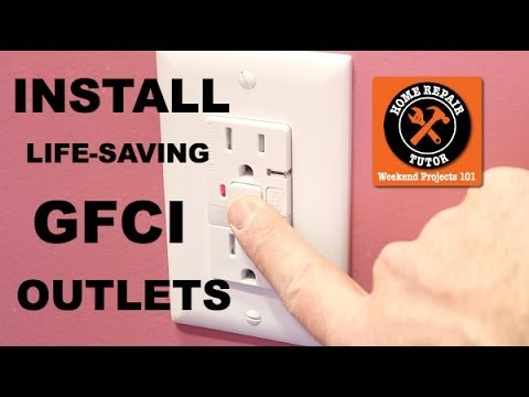 How To Install A Gfci Outlet By Home Repair Tutor Youtube