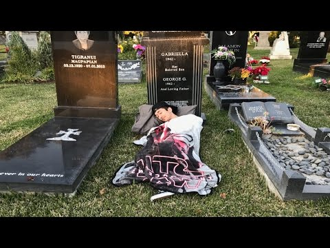 24 Hour Challenge at a CEMETERY *Gone Wrong*