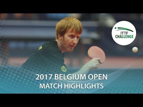 2017 Belgium Open Highlights:  Achanta Sharath Kamal vs Gavin Rumgay (R64)