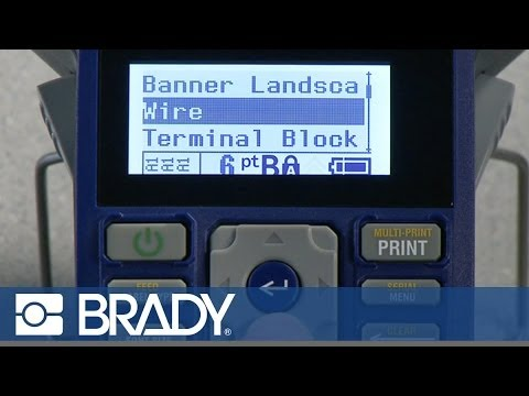 Making a Wire Marker with the Brady BMP21 Label Printer - YouTube