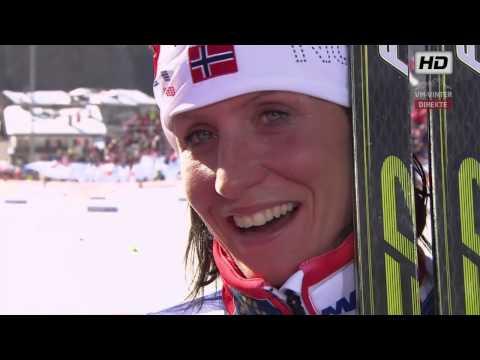 Woman's 30 Km Val di Fiemme 2013  - Emotional Marit Bjørgen