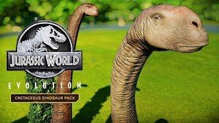 JURASSIC WORLD EVOLUTION: CRETACEOUS DINOSAUR PACK TRAILER NEW
