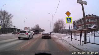 Зимние дороги - тест-драйв Ауди А 6 - 15