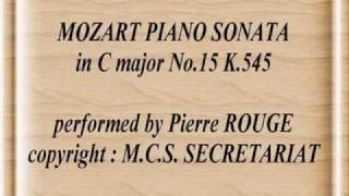 MOZART PIANO SONATA in C major No.15 K.545