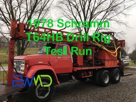 1978 Schramm T64HB Drill Rig Test Run
