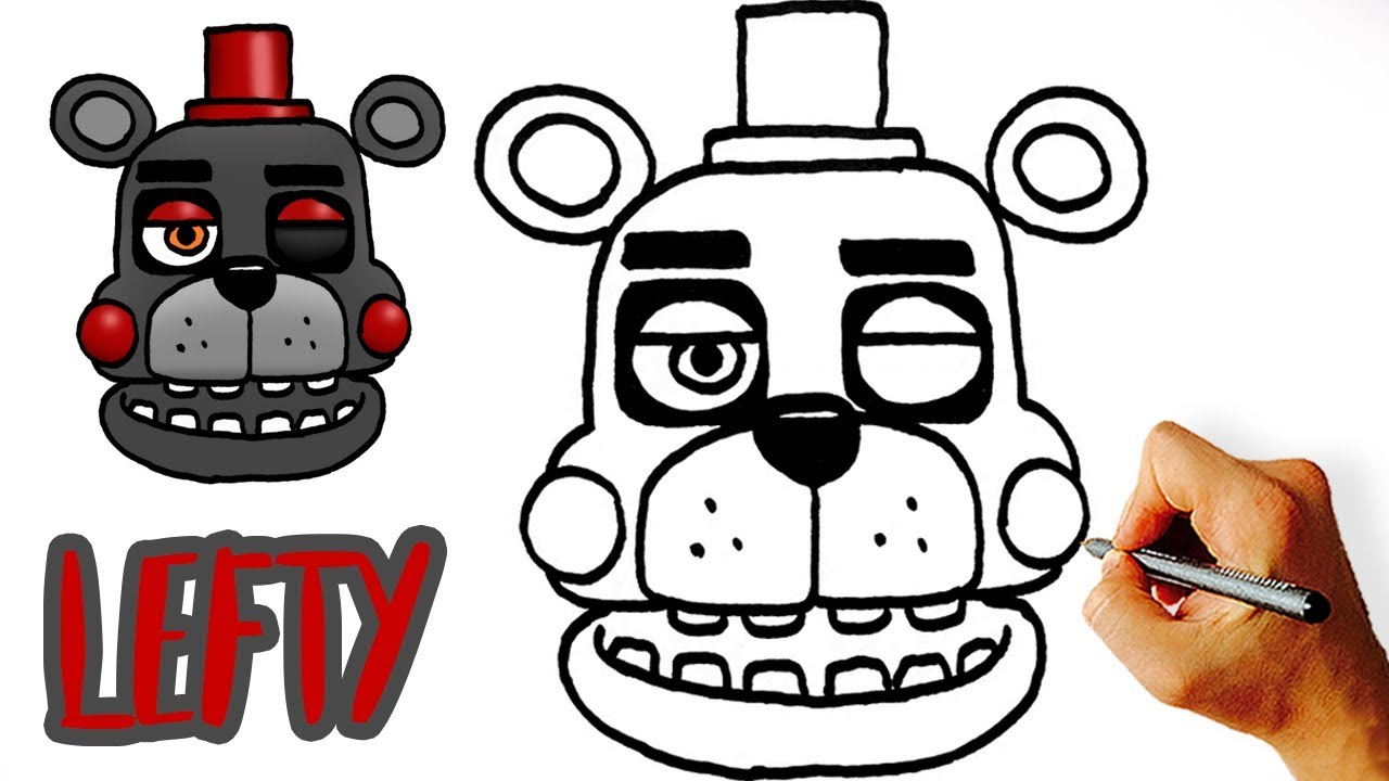 Very Easy! How to Draw Lefty (FNAF 6)