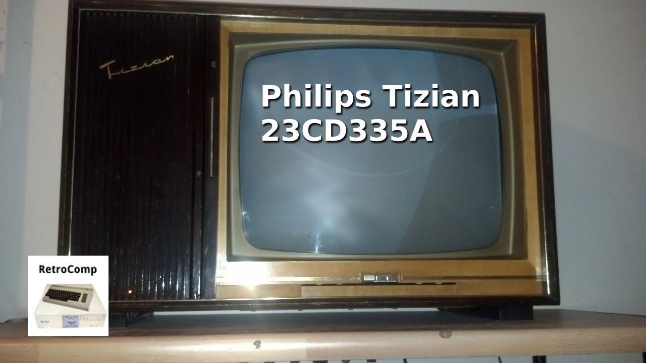 Philips Tizian 23cd335a Schwarzweiss Fernseher 1961 Youtube