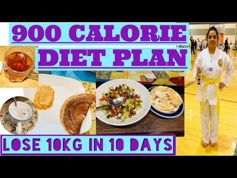 HOW TO LOSE WEIGHT FAST 10Kg in 10 Days | 900 Calorie Diet Plan | Indian Diet For Weight Loss 100%