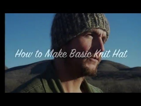 How to Make Basic Knit Hat in Rows AND Rounds