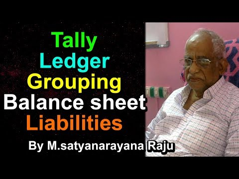 Tally  Ledger Grouping  ( Capital)Balance sheet Liabilities | mudunuri online classes