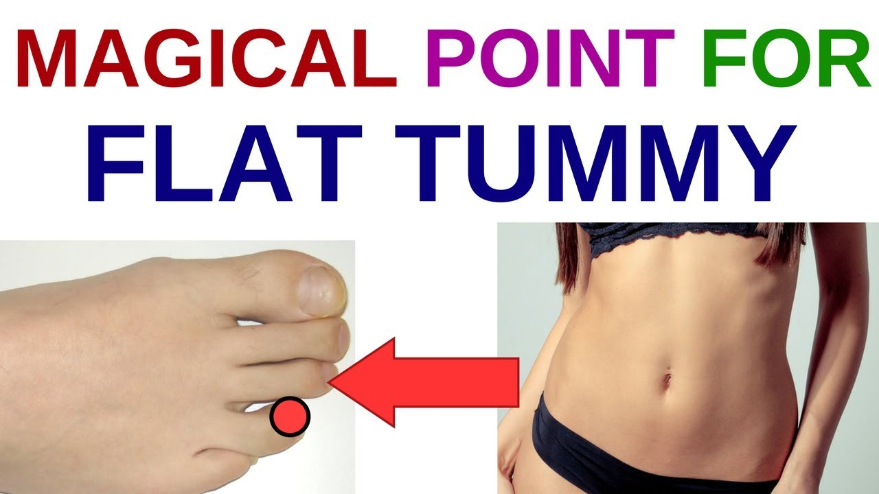 ACUPRESSURE POINTS For FLAT TUMMY