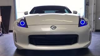Nissan 370Z Features: -RGBW Halos -RGB Demon Eye -DUALZONE BLUETOOT...