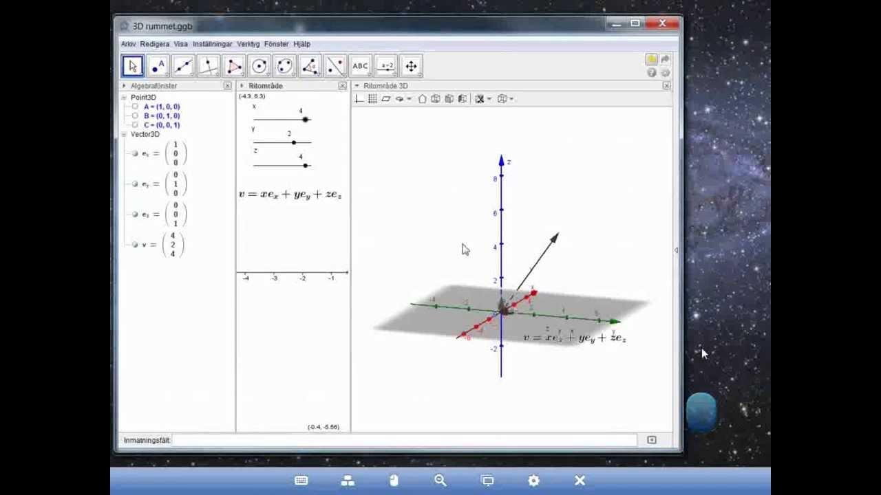 Linjer i rummet Ma specialisering linjär algebra