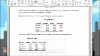 Skill Builders episode 6 Inserting Excel tables into Word