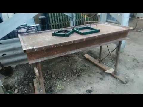 Самодельный вибростол для изготовления плитки, обзор конструкции
