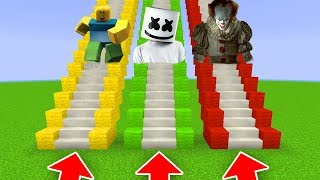 DO NOT CHOOSE THE WRONG STAIRS(ROBLOX, IT, MARSHMALLO) (/PE/MCPE)