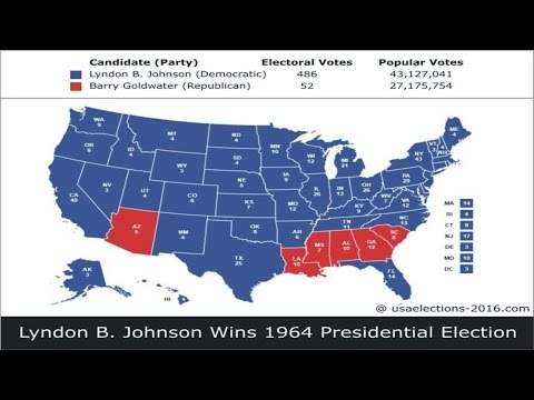 1964 US Presidential Election Result
