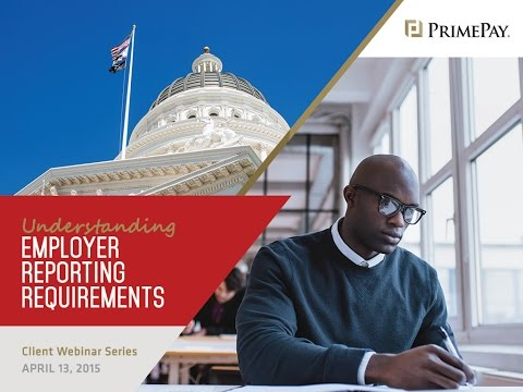 Regulations Published: Employer Reporting Requirements | PrimePay Webinar