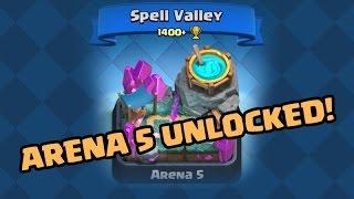 Clash Royale / ARENA 5 Spell Valley Unlocked!