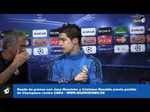 Rueda de prensa completa con Cristiano Ronaldo y Jose Mourinho.