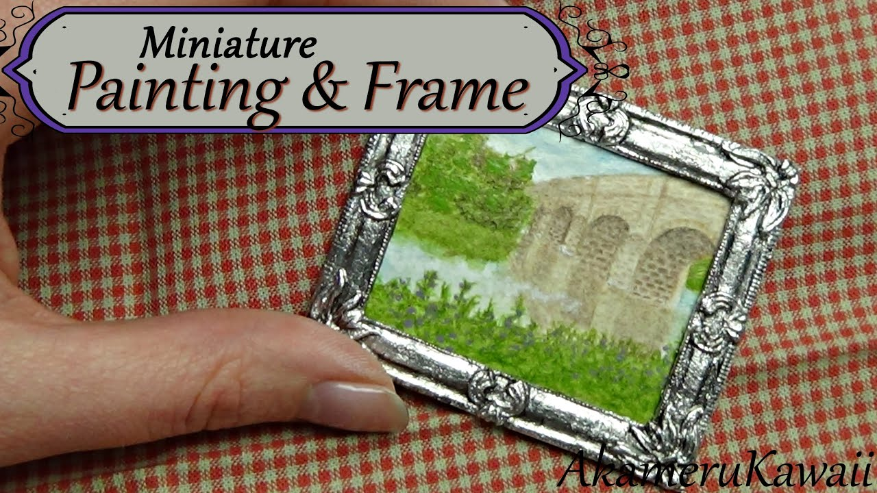 Miniature painting and frame in polymer clay dollhouse size miniature painting and frame in polymer clay dollhouse size youtube jeuxipadfo Images