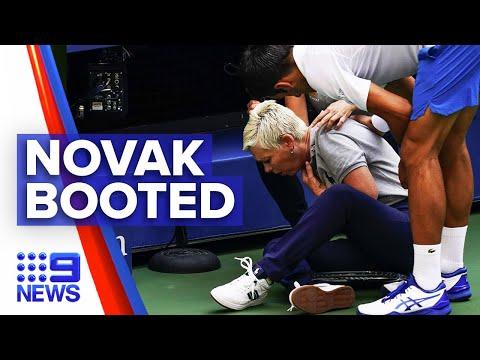 Novak Djokovic disqualified from US Open   9News Australia