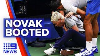 Novak Djokovic Disqualified From Us Open | 9news Australia