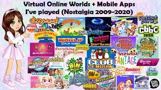 2000's Nostalgia - Virtual Online Worlds, Flash Game Websites + Apps I've Played