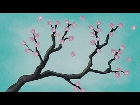 Tree Branch Acrylic Painting