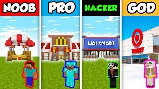 Minecraft NOOB vs PRO vs HACKER vs GOD : SHOP in Minecraft Animation!