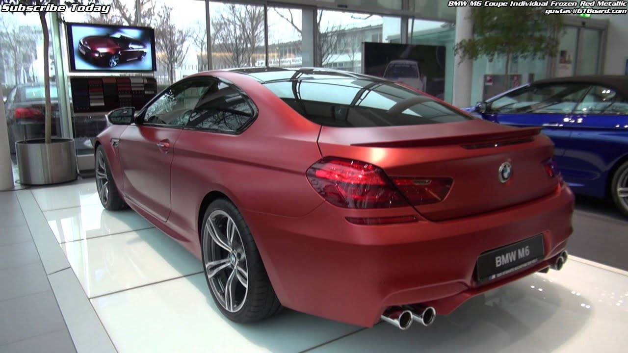 Frozen Red Bmw M6 Coupe Individual Youtube