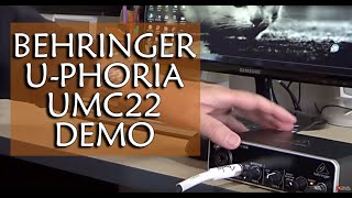 Behringer U-PHORIA UMC22 Audio Interface Test (with guitar)