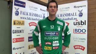 Mathias Kolstad Holm etter første kamp i Falk Horten