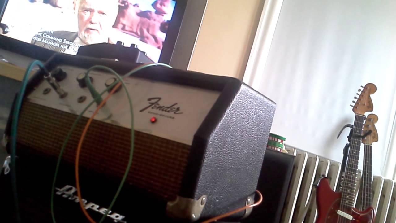 Fender echo reverb unit oil can delay - YouTube