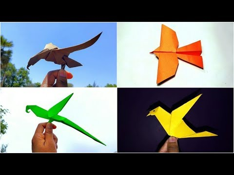 4 Easy Paper Bird || Origami Bird || DIY