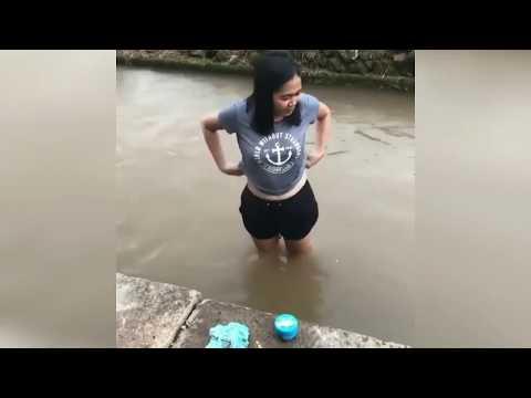 Heboh.... Tutorial mandi di sungai
