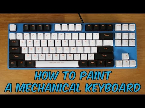 How to Paint a Mechanical Keyboard : V1