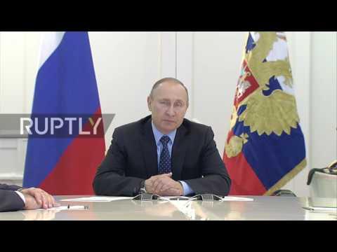 Russia: Putin launches new gas pipeline to Crimea