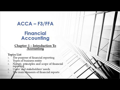 Chapter 1   Introduction to Accounting   F3 Financial Accounting   ACCA   Academy Guru