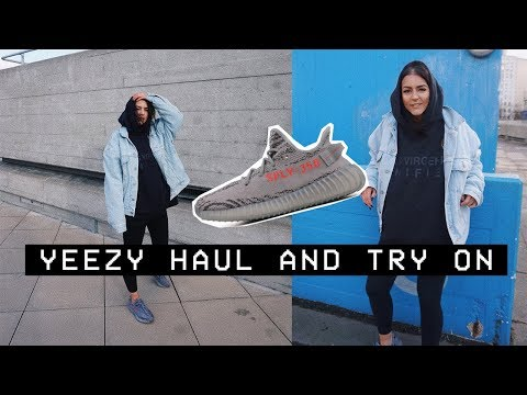 Yeezy V2 Beluga 2.0 Sneakers and Clothing Haul / Try On