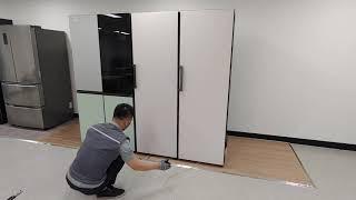 에어백을 활용한 오브제 냉장고 페어설치
