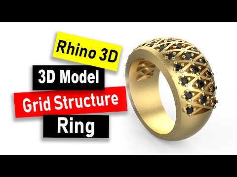 Design a Grid Structure Ring Model in Rhino 6: Jewelry CAD Design Tutorial #85