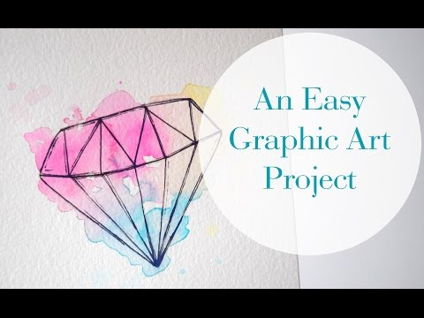 A Super Simple Graphic Art Project