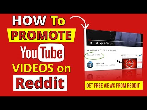 Promote YouTube Channel Reddit  💥 HOW TO Promote YouTube Videos on Reddit