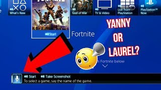 What Does the PS4 Hear? Yanny or Laurel?