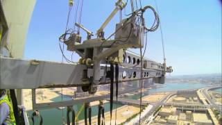 Building Maintenance Units reach great lengths at Hilal Bank, UAE. 2017 Video