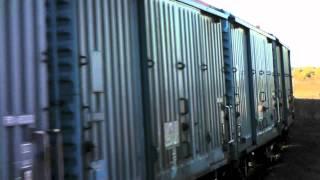 新潟県新潟市の北越紀州製紙新潟工場の製品輸送に 使われた古いワム38...