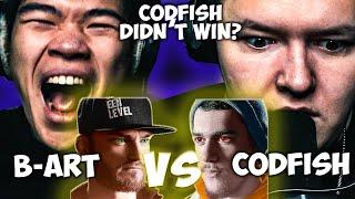 CHEZAME & SXIN React | B-ART vs CODFISH | Grand Beatbox Battle 2019 | Small Final
