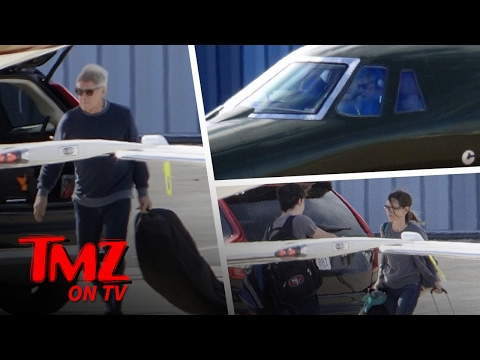 Harrison Ford Flies Wife and Son in Jet After 'Schmuck' Taxiway Landing | TMZ TV